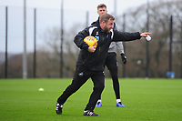 Billy Reid, assistant manager for Swansea in action during the Swansea City Training at The Fairwood Training Ground, Swansea, Wales, UK. Tuesday 04 December 2018
