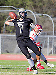 Palos Verdes, CA 10/21/16 - Aidan Kuykendall (Peninsula #7) in action during the CIF Southern Section Bay League Redondo Union - Palos Verdes Peninsula game at Peninsula High School.