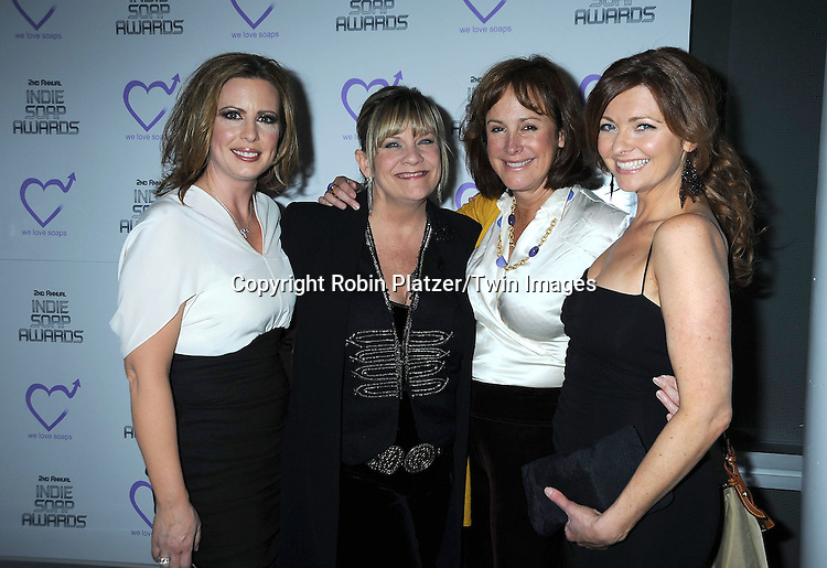 Martha Byrne, Kim Zimmer, Hillary B Smith and Anne Sayre attending The 2nd Annual Indie Soap Awards on February 21, 2011 at The Alvin Ailey Studios in  New York City sponsored by We Love Soaps.