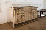 Roman tomb, archaeological display inside the Alcazar palace, Cordoba, Spain