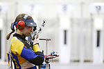 COLUMBUS, OH - MARCH 11: Sagen Maddalena of the University of Alaska Fairbanks competes during the Division I Rifle Championships held at The French Field House on the Ohio State University campus on March 11, 2017 in Columbus, Ohio. (Photo by Jay LaPrete/NCAA Photos via Getty Images)