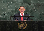 72 General Debate &ndash; 22 September <br /> <br /> Cuban foreign minister, Rodr&iacute;guez Parrilla