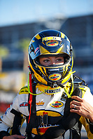 Oct 27, 2017; Las Vegas, NV, USA; NHRA top fuel driver Leah Pritchett during qualifying for the Toyota National at The Strip at Las Vegas Motor Speedway. Mandatory Credit: Mark J. Rebilas-USA TODAY Sports