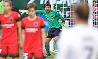 Portland, Oregon - Saturday May 21, 2016: The Portland Thorns GK Adrianna Franch (24) during a regular season NWSL match at Providence Park.