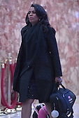 Omarosa Manigault is seen arriving through the lobby of the Trump Tower in New York, NY, on January 16, 2017 <br /> Credit: Anthony Behar / Pool via CNP
