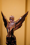 The Game Awards trophy will be awarded to various talent in the video gaming industry in December. Seen in in Los Angeles, California, November 5, 2015.