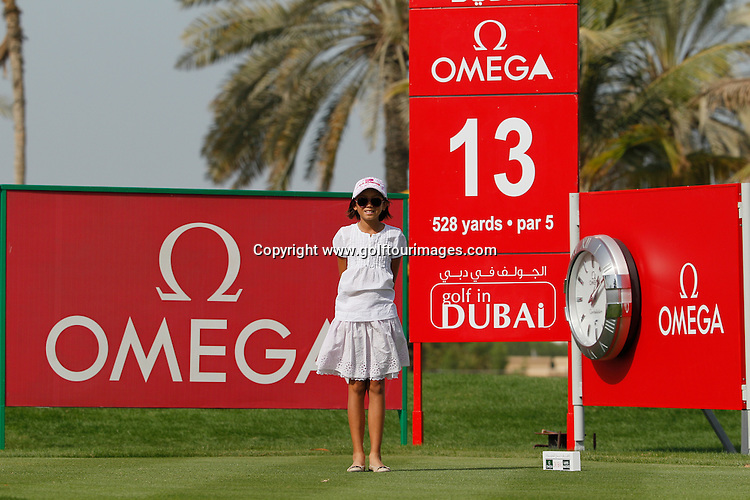Chloe Trinh (am) (UAE) during round four of the 2014 Omega Dubai Ladies Masters being played over the Majlis Course, Emirates Golf Club, Dubai from 10th to 13th December 2014: Picture Stuart Adams, www.golftourimages.com: 13-Dec-14