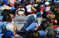 Oct 4, 2008; Talladega, AL, USA; NASCAR Craftsman Truck Series fans during the Mountain Dew 250 at the Talladega Superspeedway. Mandatory Credit: Mark J. Rebilas-