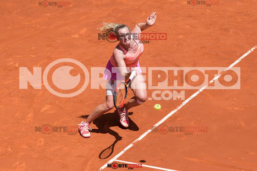 Katherina Siniakova during  Mutua Madrid Open Tennis 2017 at Caja Magica in Madrid, May 08, 2017. Spain. /NortePhoto.com