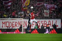 Fussball  1. Bundesliga  Saison 2016/2017  16. Spieltag  FC Bayern Muenchen - RB Leipzig        21.12.2016 Spielszene vor einem Banner mit der Aufschrift: MODERNEN FUSSBALL