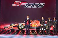 John Elkann, Sebastian Vettel, Charles Leclerc <br /> REGGIO EMILIA (ITALY) 11/02/2020 - PRESENTAZIONE FERRARI SF1000 <br /> Formula one Ferrari SF1000 launch <br /> <br /> Photo Colombo / Scuderia Ferrari Press Office / Insidefoto <br /> Editorial USE ONLY <br /> The picture cannot be modified and must be reproduced in its entirety.