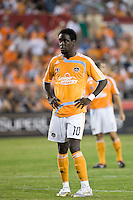 Houston Dynamo forward Kei Kamara takes the field in his first game for the Houston Dynamo. Houston Dynamo defeated Pachuca FC 2-0 during the semifinals of the Superliga 2008 tournament at Robertson Stadium in Houston, TX on July 29, 2008.