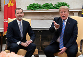 United States President Donald J. Trump meets with King Felipe VI of Spain at The White House in Washington, DC, June 19, 2018. Chris Kleponis/ CNP