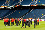 Manchester United players and coaching staff take a walk around the pitch ahead of the UEFA Europa League Final at the Friends Arena, Stockholm. Picture date: May 23rd, 2017. Pic credit should read: Matt McNulty/Sportimage