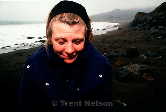 Laura Nelson at the beach, Spring 1991.  &amp;#xA;<br />