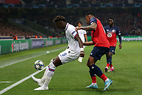 Tammy Abraham of Chelsea and Gabriel of Lille OSC during Lille OSC vs Chelsea, UEFA Champions League Football at Stade Pierre-Mauroy on 2nd October 2019