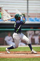 Vermont Lake Monsters shortstop Eric Marinez (2) at bat during a game against the Auburn Doubledays on July 13, 2016 at Falcon Park in Auburn, New York.  Auburn defeated Vermont 8-4.  (Mike Janes/Four Seam Images)