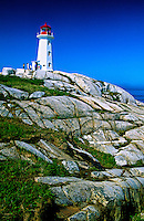 Peggy's Cove Lighthouse, near Halifax, Nova Scotia, Canada