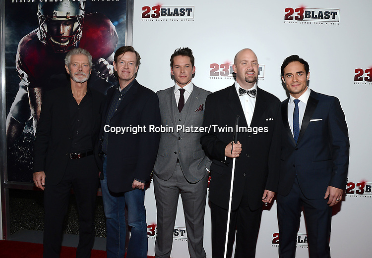 Stephen Lang, Dylan Baker, Mark Hapka, Travis Freeman and Bram Hoover attends the &quot;23 Blast&quot;  Movie Premiere  on October 20, 2014 at The Regal Cinemas E-Walk Theater in New York City. <br /> <br /> photo by Robin Platzer/Twin Images<br />  <br /> phone number 212-935-0770