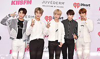 CARSON, CA - JUNE 01: (L-R) Yeonjun, Soobin, Beomgyu, Taehyun and Huening Kai of TXT attend 2019 iHeartRadio Wango Tango at The Dignity Health Sports Park on June 01, 2019 in Carson, California.<br /> CAP/ROT/TM<br /> ©TM/ROT/Capital Pictures