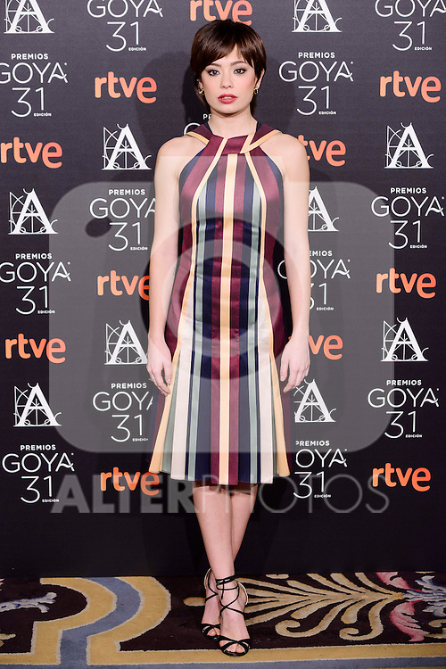 Anna Castillo attends to the 2017 Goya Awards Candidates Cocktail at Ritz Hotel in Madrid, Spain. January 12, 2017. (ALTERPHOTOS/BorjaB.Hojas)