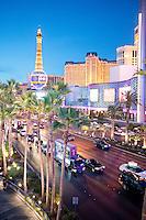 The strip at night. Las Vegas, Nevada, USA