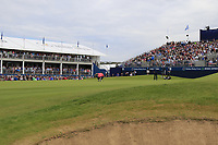 Jon Rahm (ESP) on the 18th green during Sunday's Final Round of the Dubai Duty Free Irish Open 2019, held at Lahinch Golf Club, Lahinch, Ireland. 7th July 2019.<br /> Picture: Eoin Clarke | Golffile<br /> <br /> <br /> All photos usage must carry mandatory copyright credit (© Golffile | Eoin Clarke)