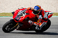 8th July 2020; Circuit de Barcelona Catalunya, Barcelona, Spain; FIM Superbike World Championship tests;  Day One; Michael Ruben Rinaldi of the Team Goeleven in action with the Ducati Panigale V4 R
