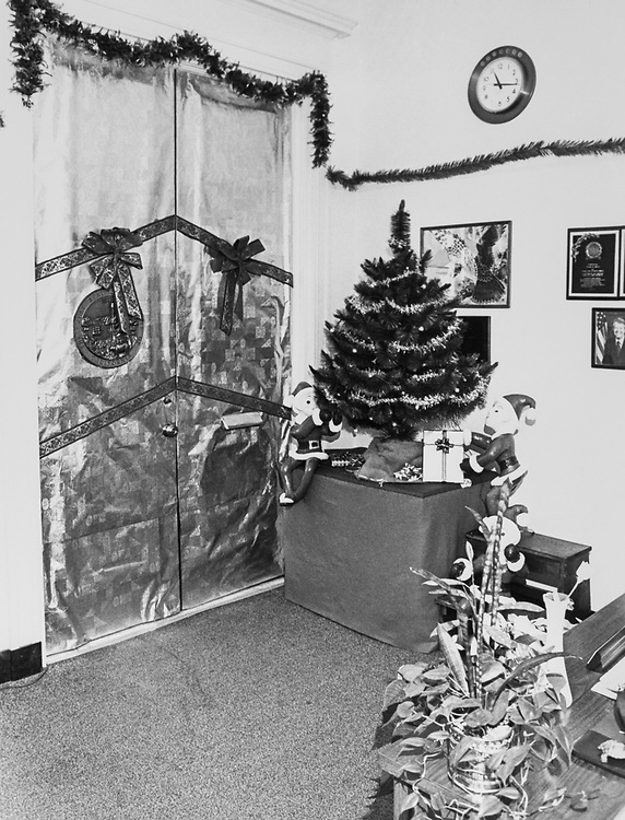 Decorated Congressman's office around Christmas. (Photo by Keith Jewell/CQ Roll Call via Getty Images)