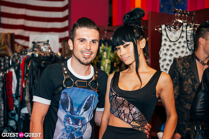 Erik Rosete and Bai Ling at Mister Triple X Presents Bunny Land Los Angeles Trunk Show & Fashion Party With Friends (Photo by Tiffany Chien/Guest Of A Guest)