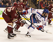Mike Booth (BC - 12), Dylan Zink (UML - 25) The University of Massachusetts-Lowell River Hawks defeated the Boston College Eagles 4-3 to win the 2017 Hockey East tournament at TD Garden on Saturday, March 18, 2017, in Boston, Massachusetts.