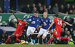 James McCarthy of Everton tackles Mamadou Sakho of Liverpool - Barclays Premier League - Everton vs Liverpool - Goodison Park Stadium  - Liverpool - England - 7th February 2015 - Picture Simon Bellis/Sportimage