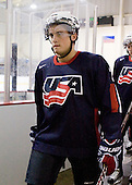 Chris Wideman (US - 2) - Team USA defeated Team Russia 6-0 in their final game during the 2009 USA Hockey National Junior Evaluation Camp on Saturday, August 15, 2009, in the USA (NHL-sized) Rink in Lake Placid, New York.