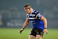 Sam Nixon of Bath United calls out. Premiership Rugby Shield match, between Bath United and Gloucester United on April 8, 2019 at the Recreation Ground in Bath, England. Photo by: Patrick Khachfe / Onside Images