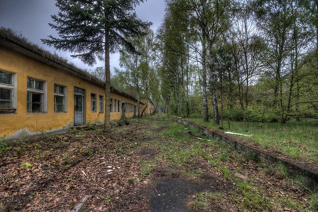 Tank barracks in summer