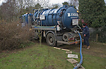 Emptying domestic septic tank