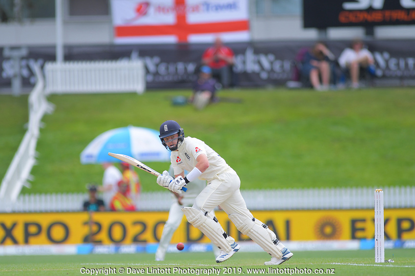 England's Ollie Pope bats during day four of the international cricket 2nd test match between NZ Black Caps and England at Seddon Park in Hamilton, New Zealand on Friday, 22 November 2019. Photo: Dave Lintott / lintottphoto.co.nz