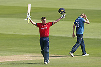 Daniel Lawrence of Essex acknowledges the crowd after reaching his century during Essex Eagles vs Kent Spitfires, Royal London One-Day Cup Cricket at The Cloudfm County Ground on 6th June 2018