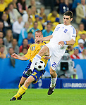 Kostas Katsouranis and Daniel Andersson at Euro 2008. Greece-Sweden 06102008, Salzburg, Austria