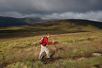 A walker ascending the Corbett of Ben Tirran above Glen Clova, Angus<br /> <br /> Copyright www.scottishhorizons.co.uk/Keith Fergus 2011 All Rights Reserved