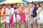 Celebrating her 21st birthday on Killarney Races Ladies Day, Thursday, was Ailish O'Leary, Gneeveguilla. .From left: Siobhan O'Sullivan, Gneeveguilla, Amanda O'Shea, Killarney, Niamh O'Neill, Killarney, Denise Collins, Rathmore,  Ailish O'Leary, Gneeveguilla, Lorraine Sheehan, Knocknagree, Deborah Carroll, Clonakilty, Niamh O'Mahony, Glenflesk, Elaine Hickey, Knocknagree at Killarney races ladies day on Thursday.