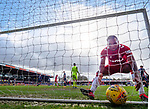 08.03.2020: Ross County v Rangers: Ryan Kent's shot takes a deflection as it beats keeper Ross Laidlaw and Alfredo Morelos collects the ball