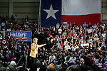 2008 democratic candidate for president Hillary Clinton speaks during her Solutions for America rally, Feb. 13, 2008, at Bill Greehey Arena, on the campus of St. Mary's University in San Antonio. (Darren Abate/PressPhoto International)