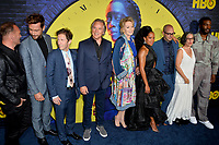 "LOS ANGELES, USA. October 15, 2019: Andrew Howard, Tom Mison, Tim Blake Nelson, Don Johnson, Jean Smart, Regina King, Damon Lindelof, Nicole Kassell & Yahya Adbul-Meteen II at the premiere of HBO's ""Watchmen"" at the Cinerama Dome, Hollywood.<br /> Picture: Paul Smith/Featureflash"