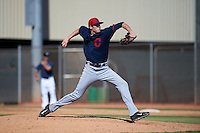 Cleveland Indians pitcher Ryan Colegate (64) during an instructional league game against the Milwaukee Brewers on October 8, 2015 at the Maryvale Baseball Complex in Maryvale, Arizona.  (Mike Janes/Four Seam Images)
