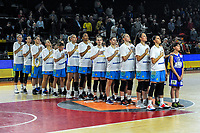 20191114 - CHARLEROI , BELGIUM : Team Ukraine pictured during a female basketball match between the Belgian national team Belgian Cats and Ukraine , a first qualification game for the Belgian Cats in Group G towards the Women's European Eurobasket Basketball Championships 2021 in Lyon, Paris and Valencia, on Thursday 14 th November in the Dome in Charleroi , Belgium . PHOTO SPORTPIX | STIJN AUDOOREN