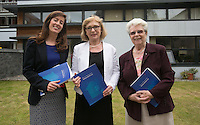***NO FEE PIC ***<br /> 11/06/2014<br /> (L to R) Maeve Regan Managing Solicitor MLRC,  Minister of State for Housing, Minister Jan O&rsquo;Sullivan TD &amp; Sr. Helena O' Donoghue Chairperson MLRC during The Mercy Law Resource Centre's Annual Report for 2013 at Sophia Housing on Cork Street, Dublin.<br /> Photo:  Gareth Chaney Collins