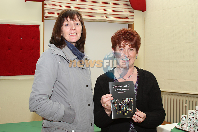 "Anne Devery and Margaret Finegan at the Launch of  ""30 Years of Set Dancing in Termonfeckin"" in An Grianan...(Photo credit should read Jenny Matthews/www.newsfile.ie)....This Picture has been sent you under the conditions enclosed by:.Newsfile Ltd..The Studio,.Millmount Abbey,.Drogheda,.Co Meath..Ireland..Tel: +353(0)41-9871240.Fax: +353(0)41-9871260.GSM: +353(0)86-2500958.email: pictures@newsfile.ie.www.newsfile.ie."