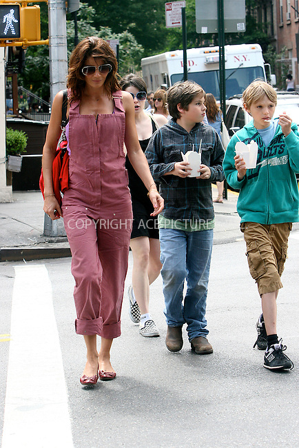 WWW.ACEPIXS.COM . . . . .  ....June 5 2011, New York City....Model Helena Christensen and her son Mingus (blonde hair, turquoise top) seen walking in the West Village on June 6 2011 in New York City....Please byline: NANCY RIVERA- ACEPIXS.COM.... *** ***..Ace Pictures, Inc:  ..Tel: 646 769 0430..e-mail: info@acepixs.com..web: http://www.acepixs.com