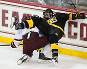 Michael Campoli (BC - 6), Cole Josefchak (CC - 22) - The Boston College Eagles defeated the visiting Colorado College Tigers 4-1 on Friday, October 21, 2016, at Kelley Rink in Conte Forum in Chestnut Hill, Massachusetts.The Boston College Eagles defeated the visiting Colorado College Tiger 4-1 on Friday, October 21, 2016, at Kelley Rink in Conte Forum in Chestnut Hill, Massachusett.